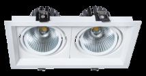 Đèn led âm trần hộp đôi 2 x 10W