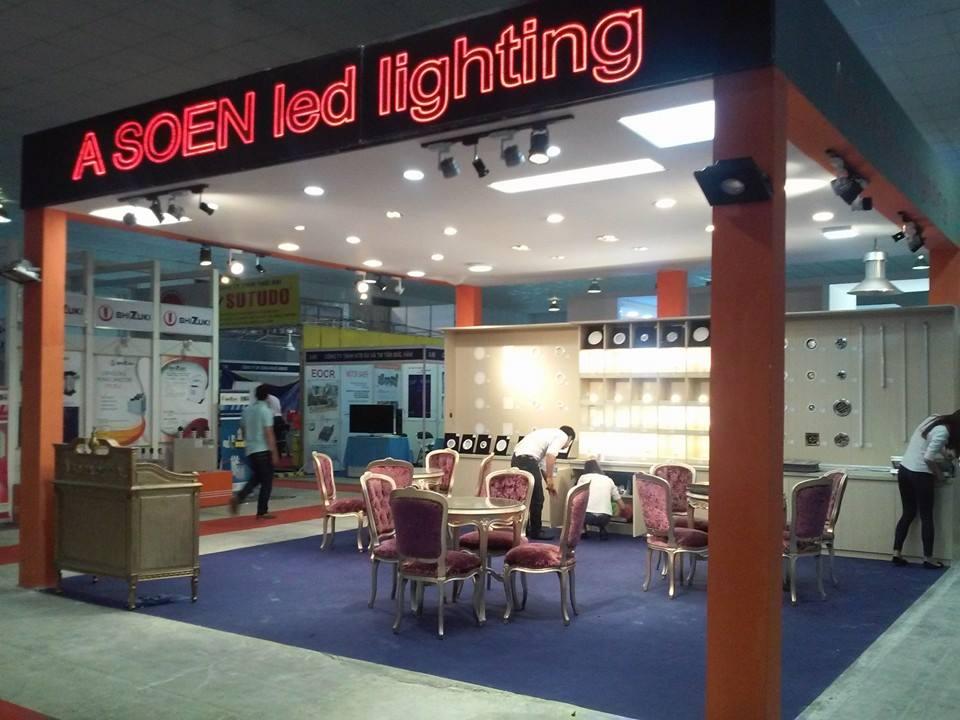 Gian hàng Asoen Led Lighting tại hội chợ