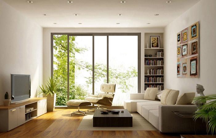 Sử dụng cửa kính để tận dụng ánh sáng thiên nhiên